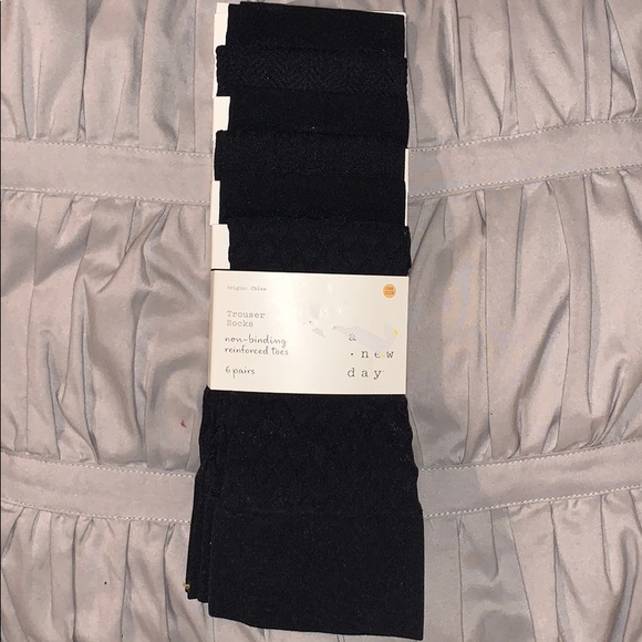 a new day Accessories - NEW A new day black nylon trouser socks 6 pairs.
